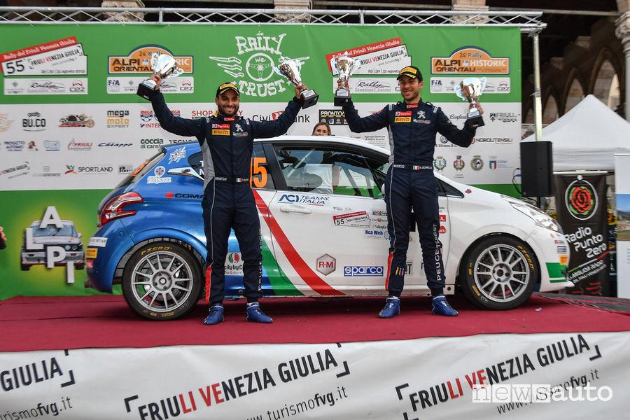 CIR Rally del Friuli 2019 vittoria categoria R2 Peugeot Ciuffi/Gonella