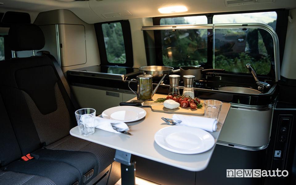 Tavolo cucina abitacolo camper Mercedes Marco Polo