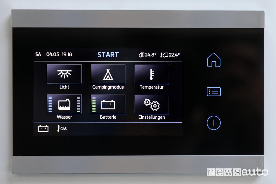 Touchscreen display di controllo funzioni Volkswagen Grand California