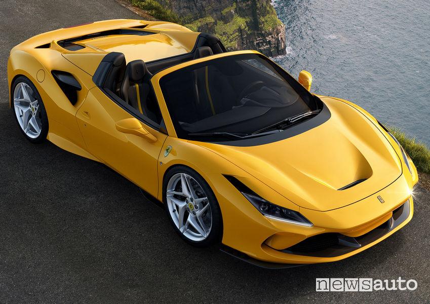 Prese d'aria cofano anteriore Ferrari F8 Spider