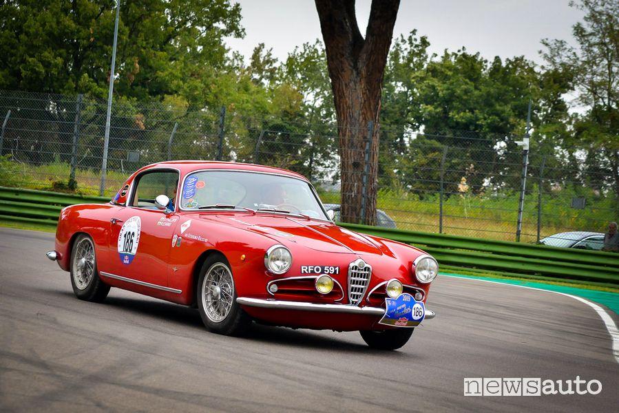Alfa Romeo 1900 CSS 1956 Gp Nuvolari 2019 nell'autodromo di Imola