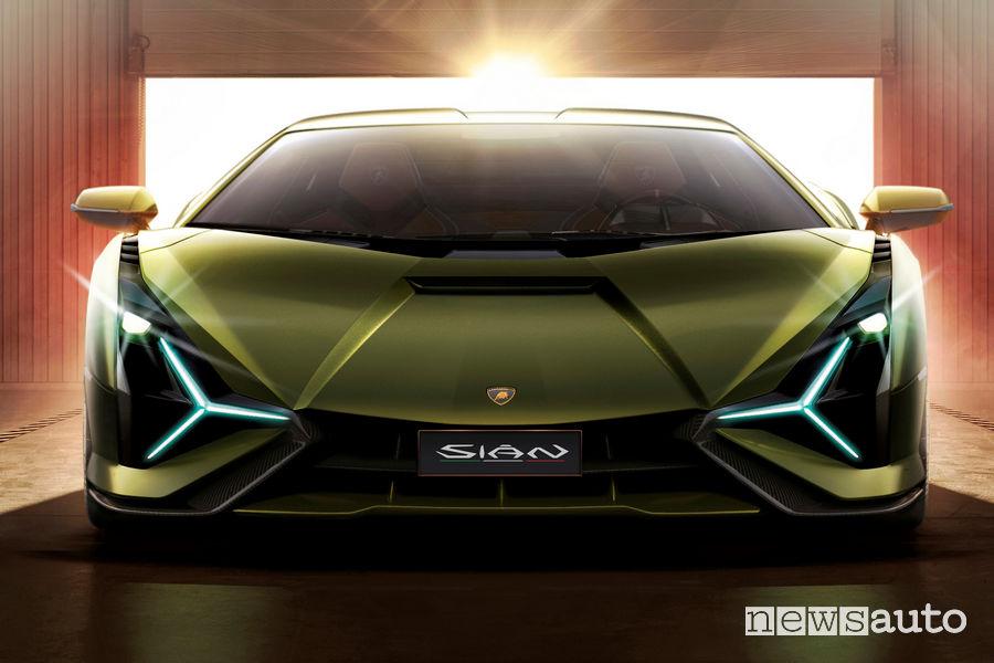 Lamborghini Sian ibrida frontale