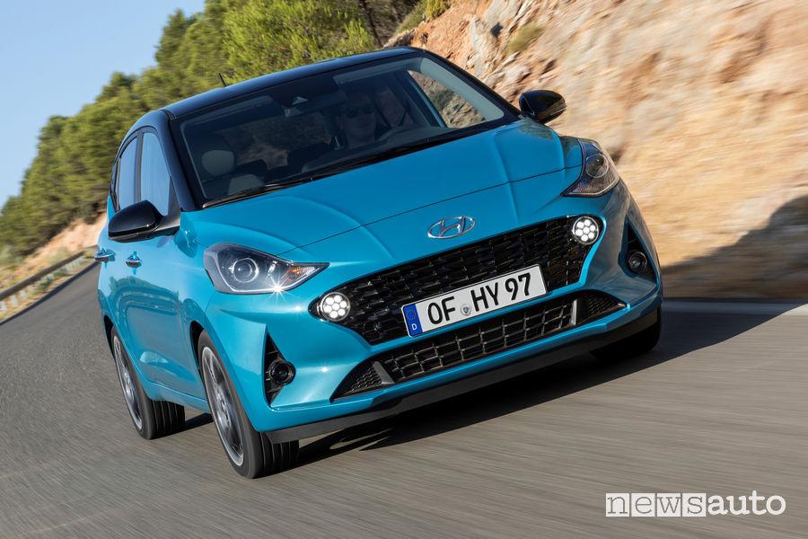 Nuovo frontale e nuovi fari per la nuova Hyundai i10