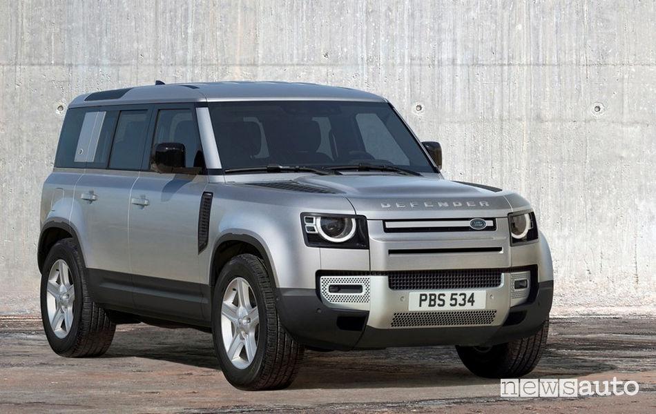 Nuovo frontale e Fari a LED sul nuovo Land Rover Defender 90 2020