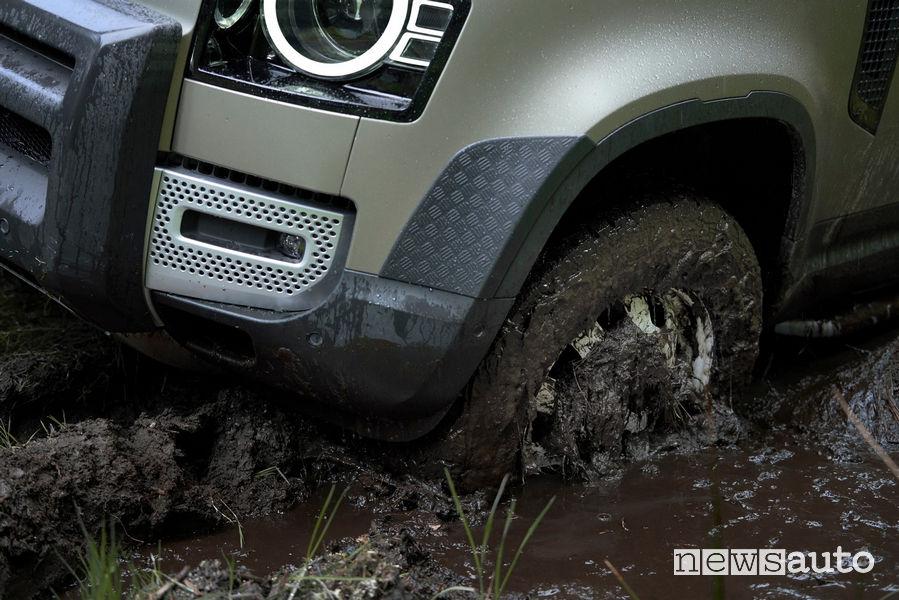 Guado nel fango nuovo Land Rover Defender 2020