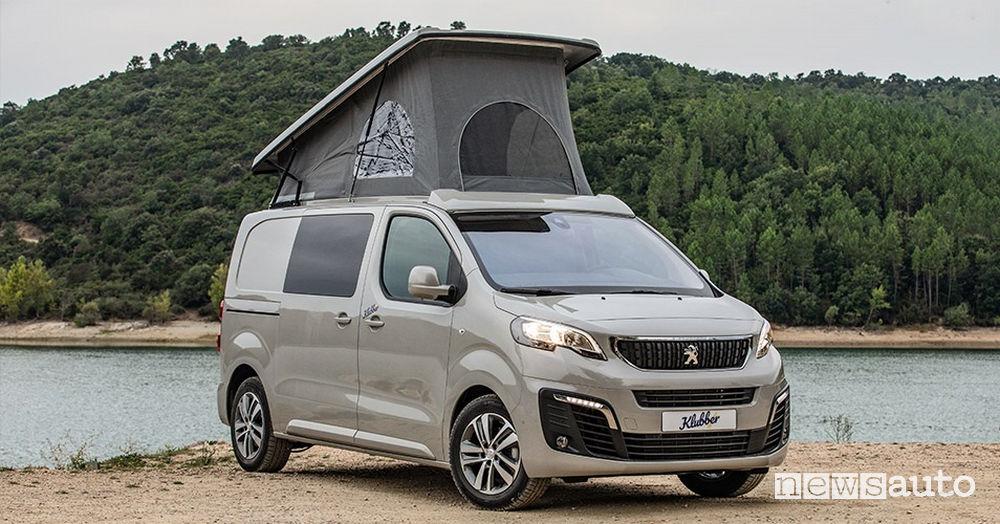 Tenda a soffietto camper Peugeot Expert Klubber