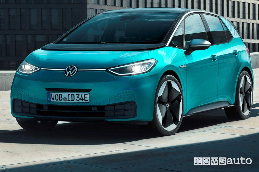 Frontale e nuovo logo Volkswagen ID.3 1ST