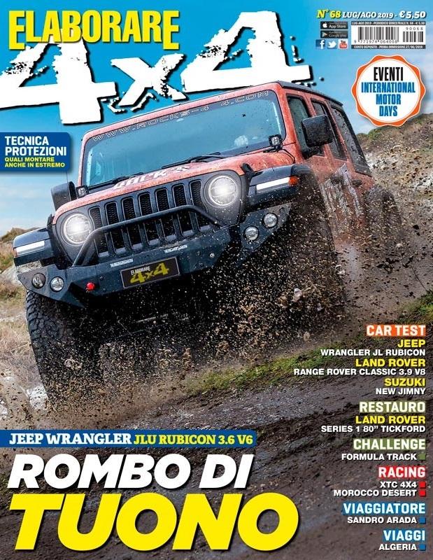 Cover Elaborare4x4 magazine Luglio/Agosto 2019