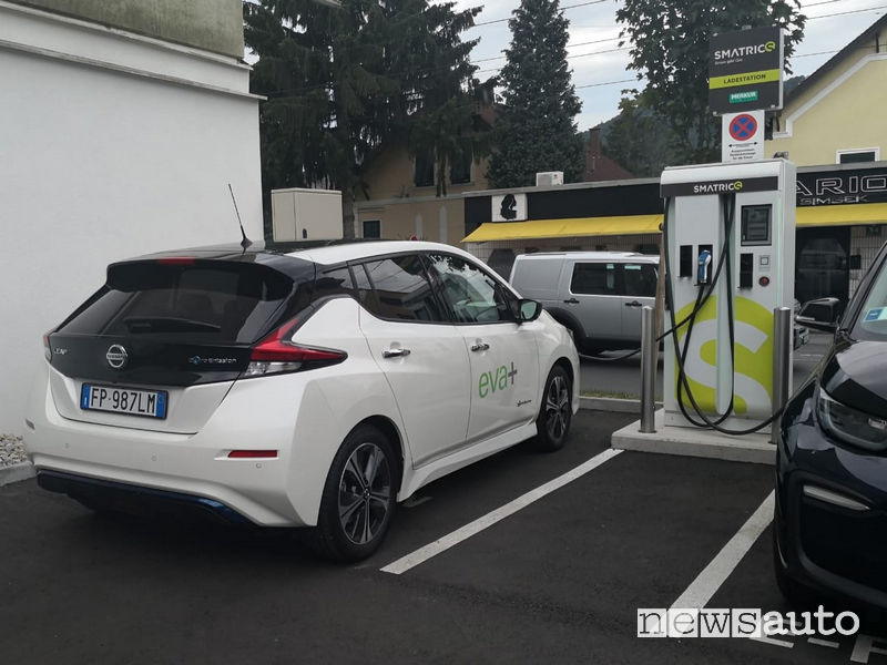 Aree di ricarica pubblica auto elettriche