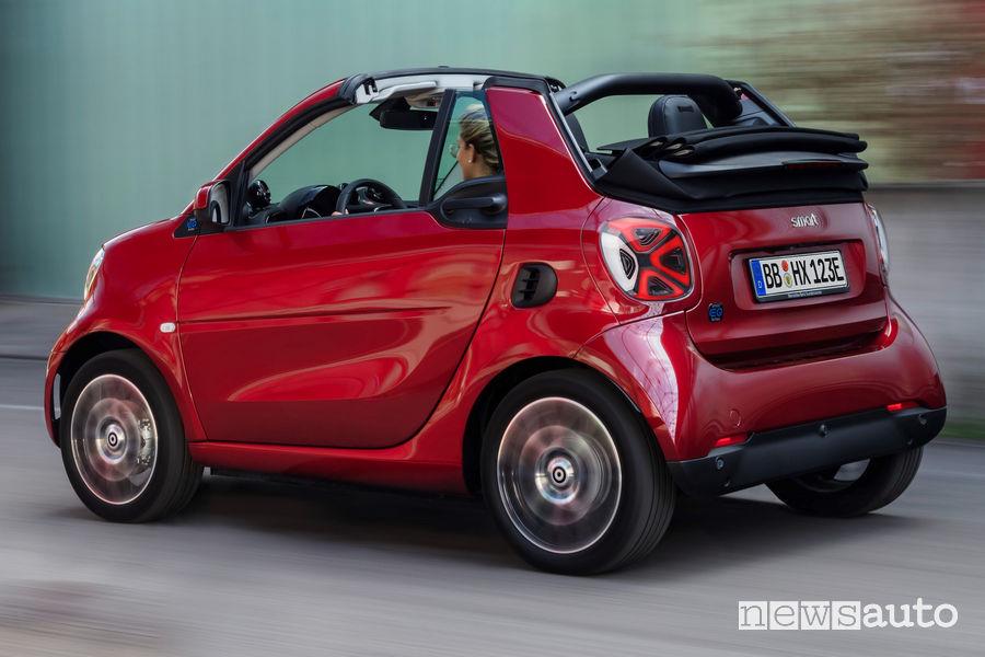 Cerchi in lega e fiancata laterale smart EQ fortwo cabrio 2020