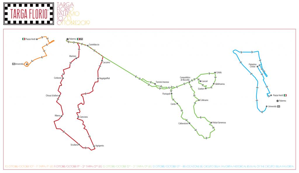 Percorso Targa Florio Classica 2019
