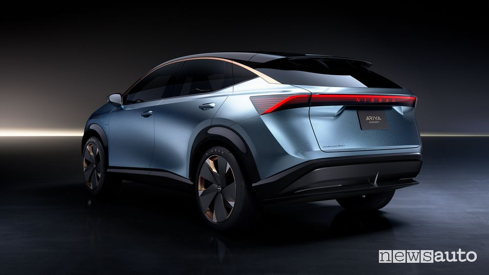 Vista posteriore concept Nissan Ariya