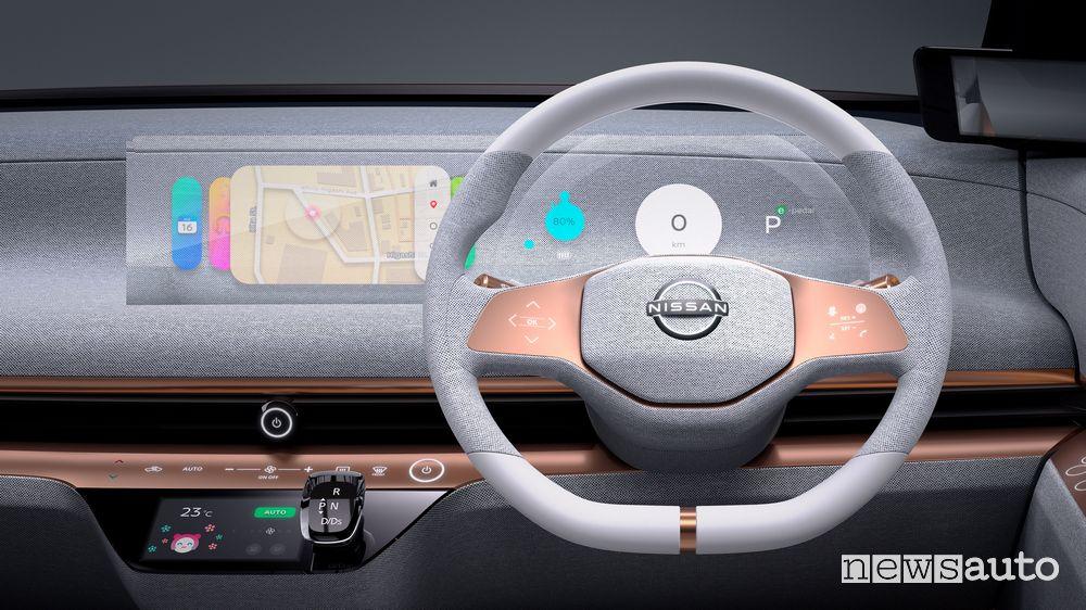 Volante, plancia strumenti Nissan concept IMk