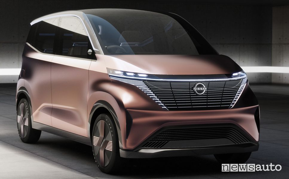 Frontale griglia V-motion Nissan concept IMk