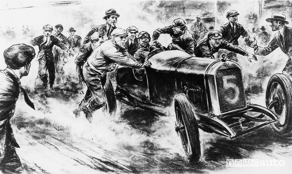 Peugeot L25 alla Targa Florio 1919