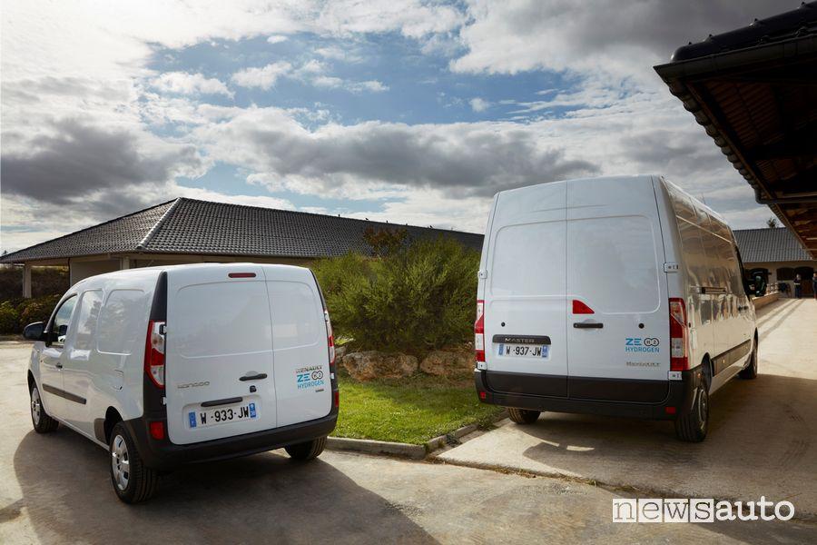 Renault Master e Kangoo Z.E Hydrogen ad idrogeno