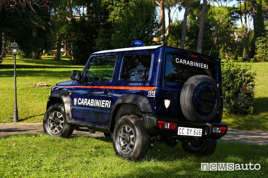Ruota di scorta, portellone posteriore Suzuki Jimny Carabinieri