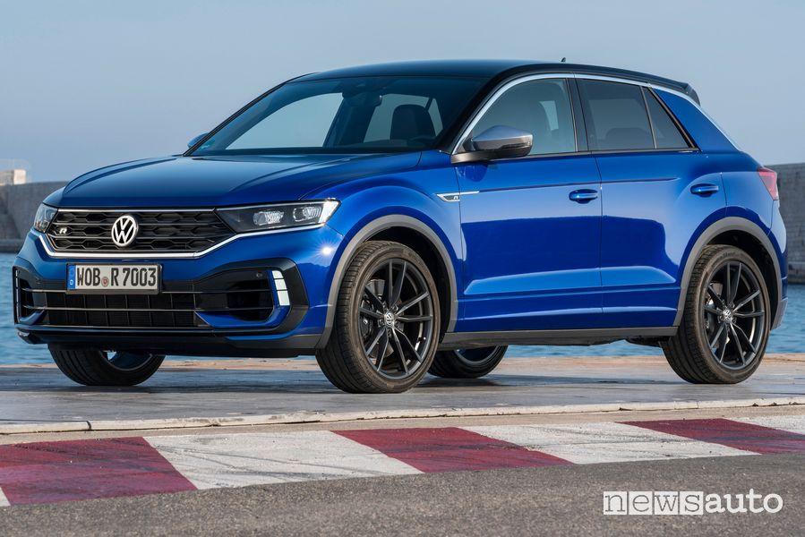 Frontale, cerchi in lega lato guidatore Volkswagen T-Roc R