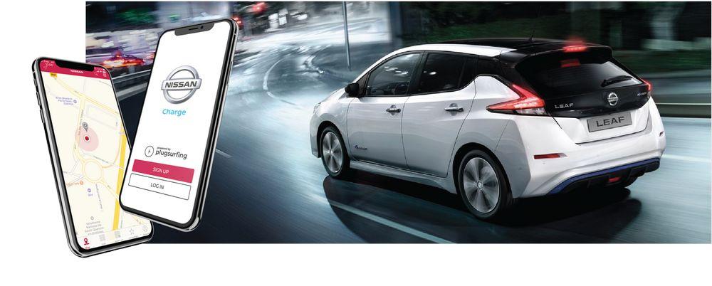 App Nissan Charge per caricare l'auto elettrica da una colonnina