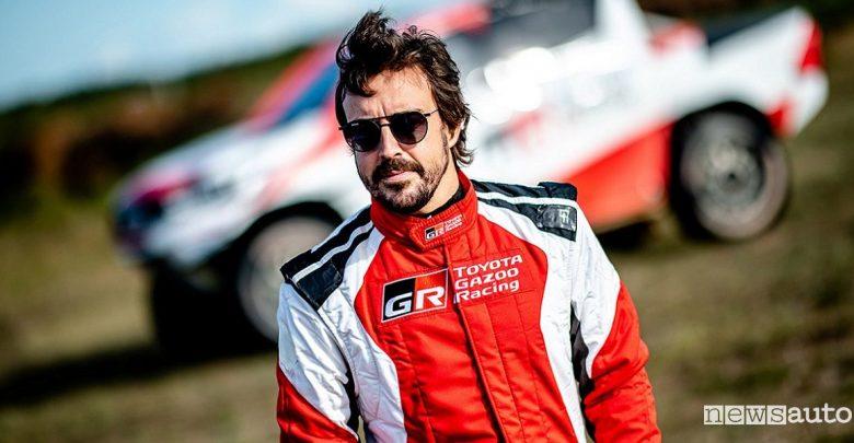 Fernando Alonso alla Dakar 2020 con la Toyota