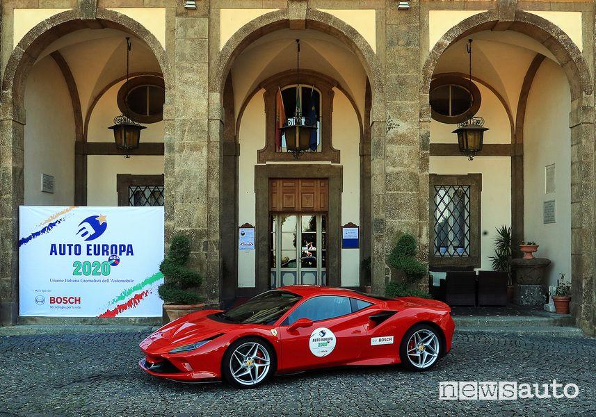 Ferrari F8 Tributo premio auto sportiva Auto Europa 2020