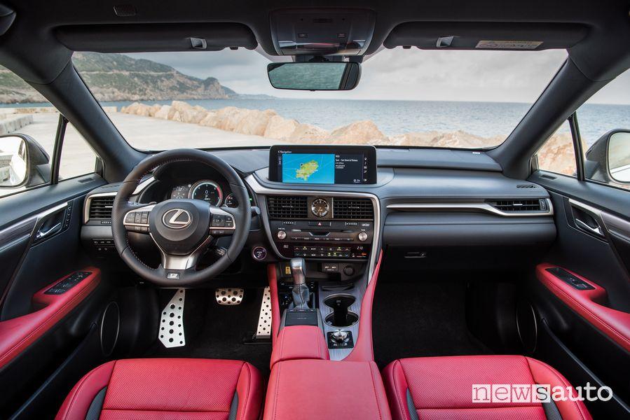 Volante, abitacolo Lexus RX 450h 2020