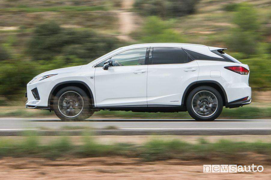 Fiancata laterale Lexus RX 450h 2020