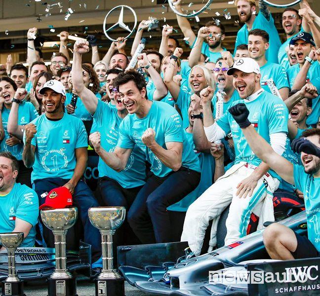 Mercedes campione del mondo f1 2019