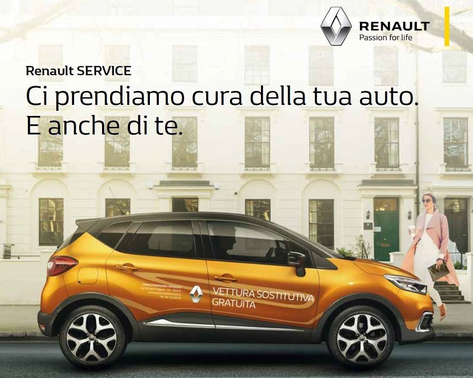 "Locandina programma ""Vettura sostitutiva gratuita"" Renault"