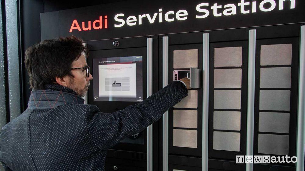 Consegna delle chiavi per il service/manutenzione Audi all'aeroporto di Bologna