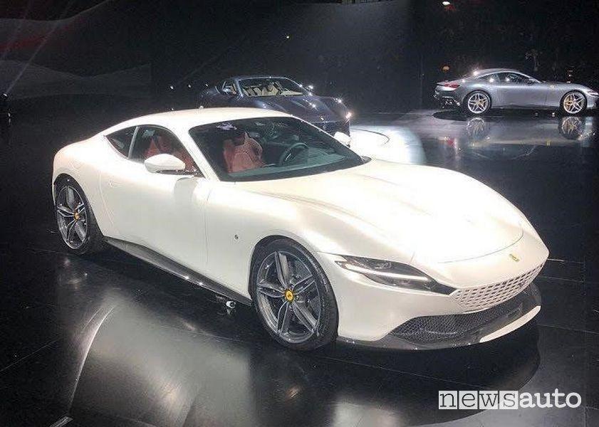 Ferrari Roma alla presentazione ufficiale tenutasi a Roma