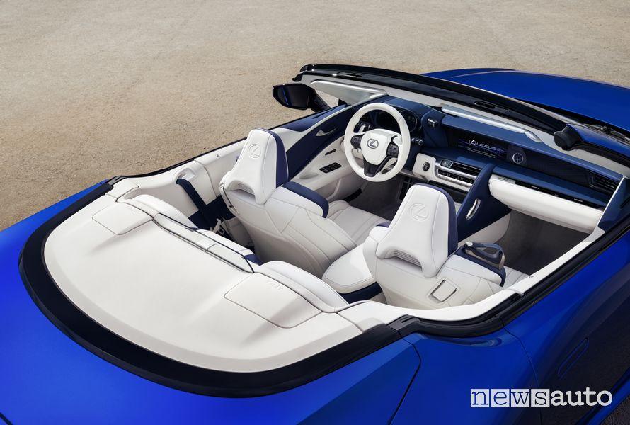 Abitacolo Lexus LC 500 Convertible
