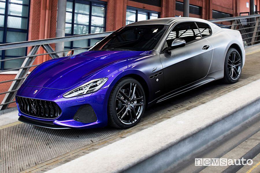 Vista anteriore, di profilo Maserati GranTurismo Zéda