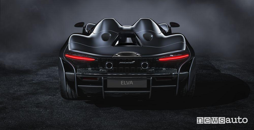 Vista posteriore McLaren Elva