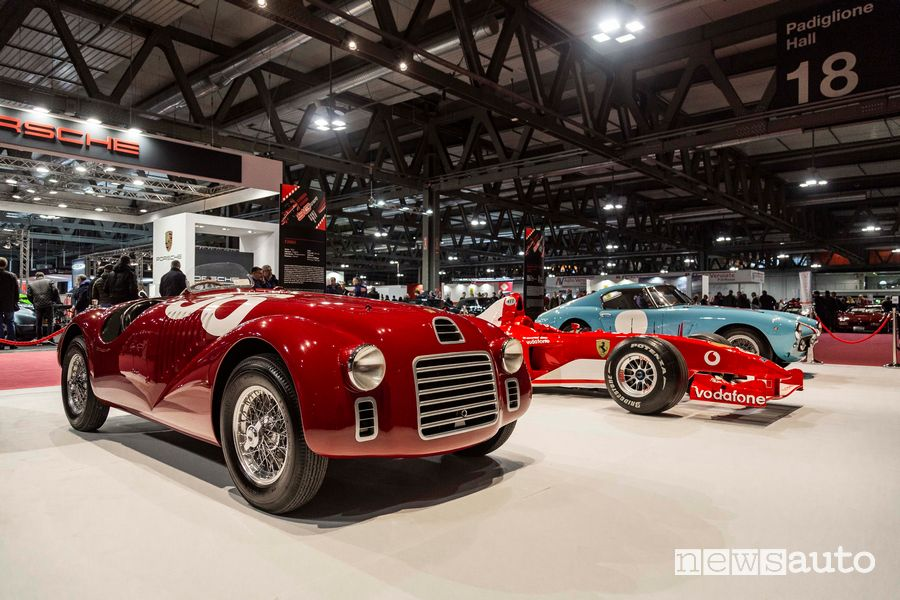 Ferrari 125 S del 1947 nello stand Ferrari a Milano AutoClassica 2019