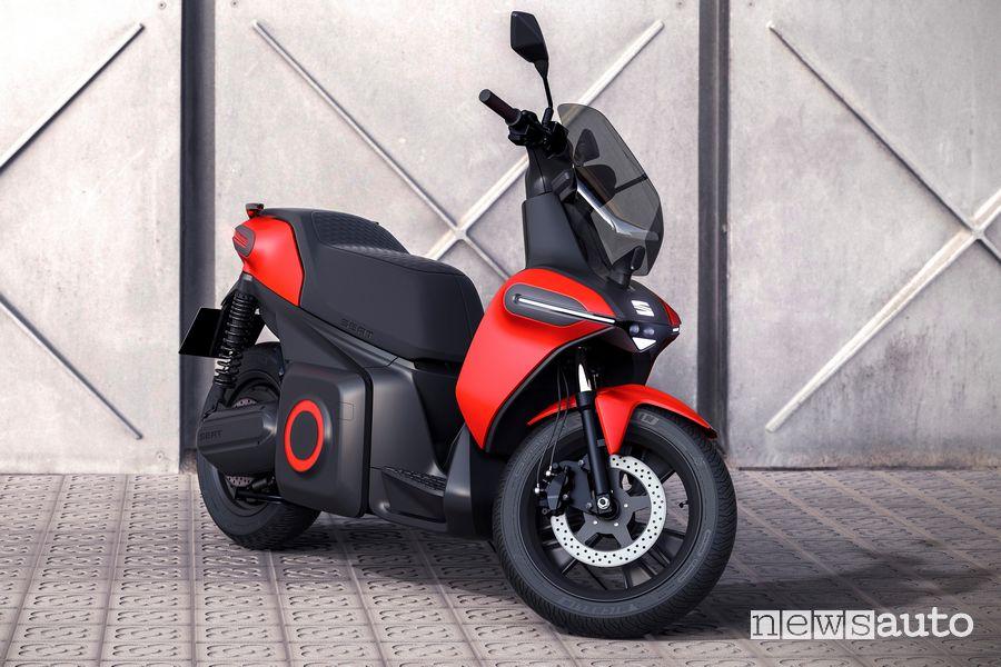 Vista di profilo Seat e-Scooter
