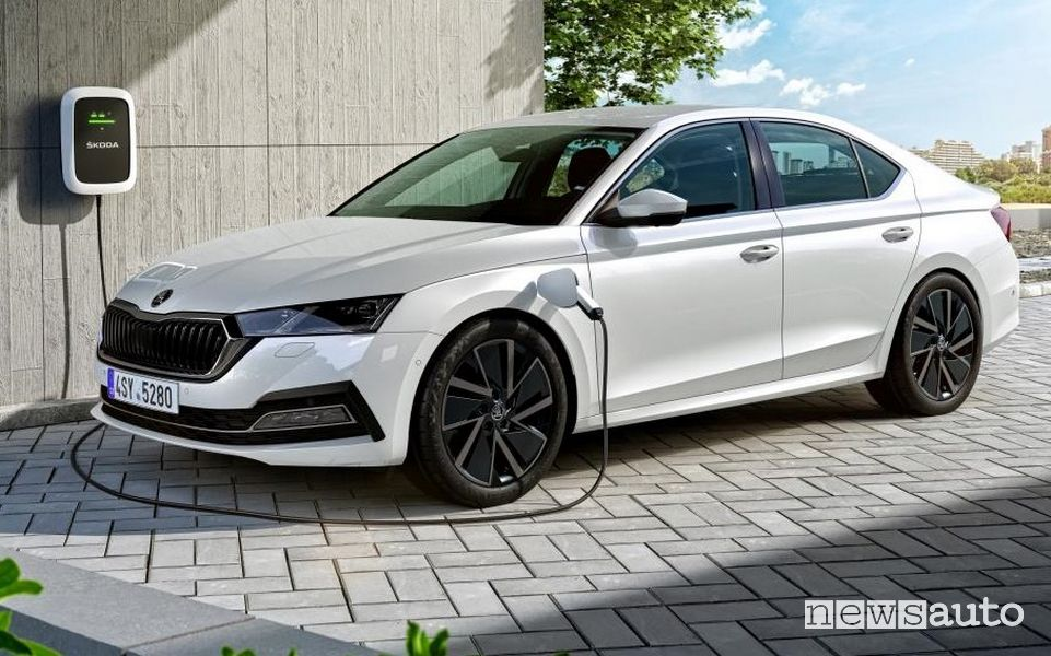 Ricarica da wallbox Škoda Octavia 2020 ibrida plug-in