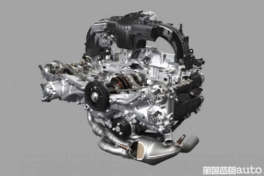 Il motore Subaru boxer a cilindri contrapposti