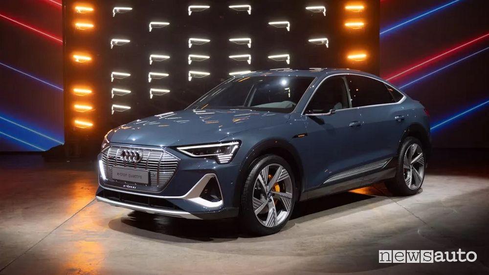 Audi e-tron Sportback presentazione al Salone di Los Angeles