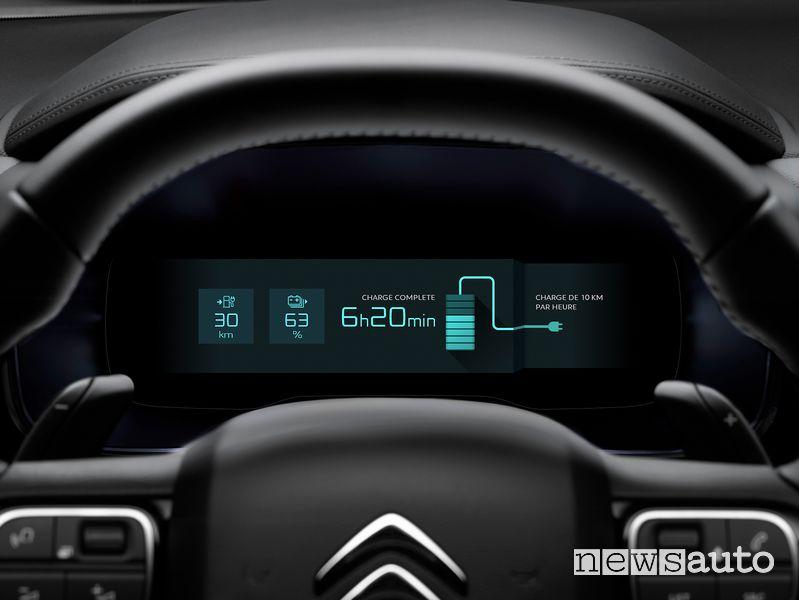 Quadro strumenti schermata ricarica batteria Citroën C5 Aircross Hybrid plug-in