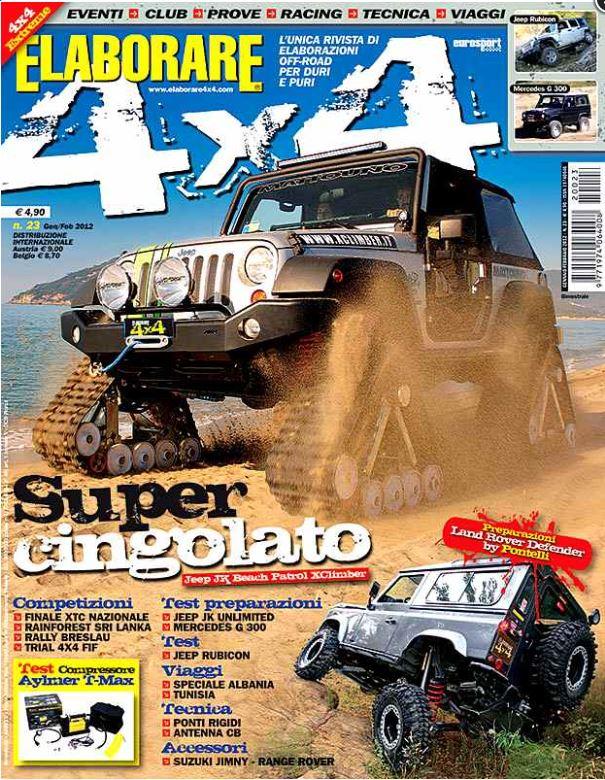 Jeep cingolata prova su Elaborare 4x4 magazine n°23