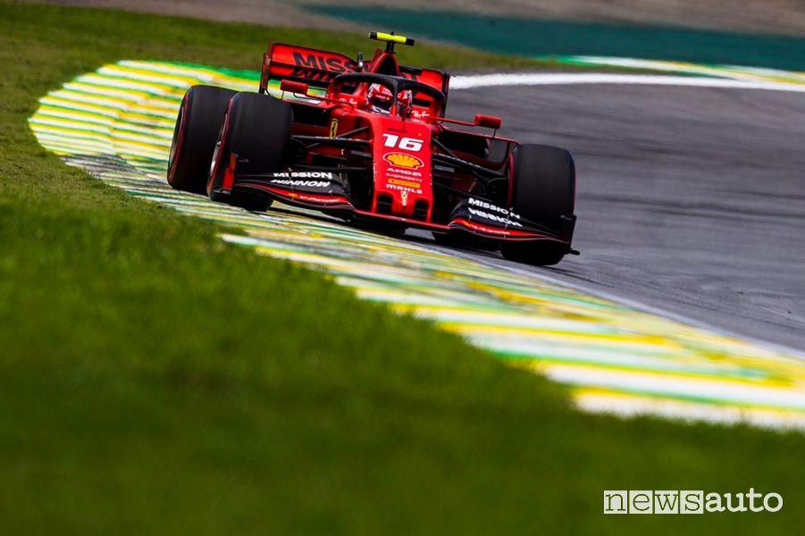 Charles Lecler Ferrari qualifiche F1 Gp Brasile 2019
