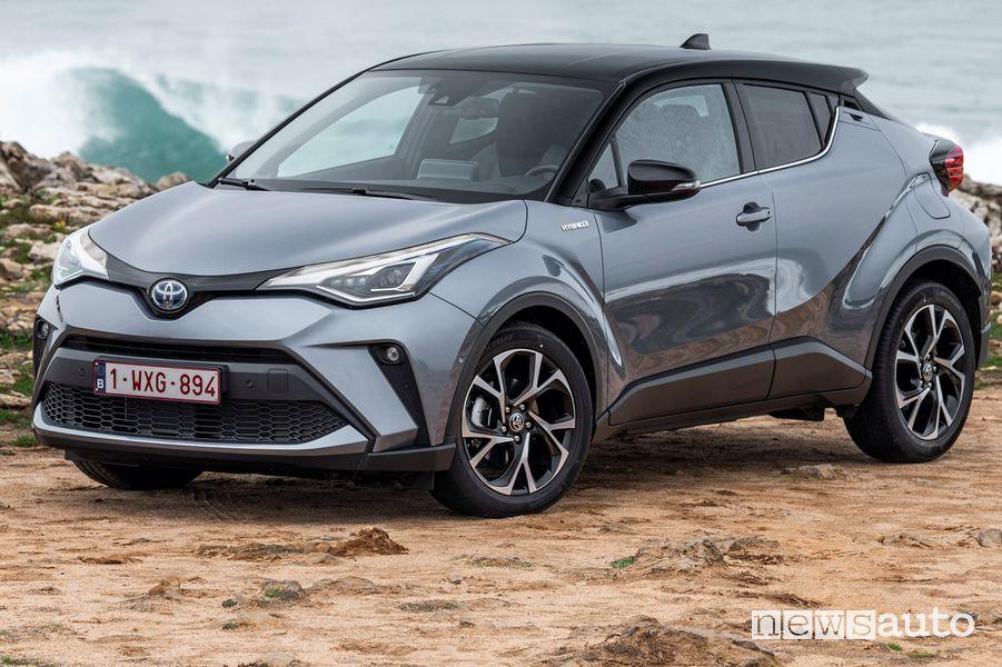 Vista anteriore, cerchi in lega Toyota C-HR 2020