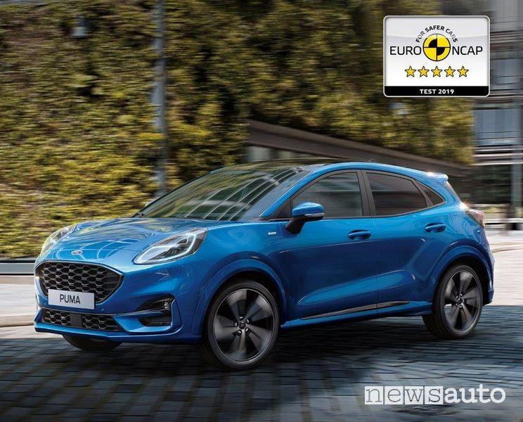 La Ford Puma a 5 stelle nei test Euro NCAP