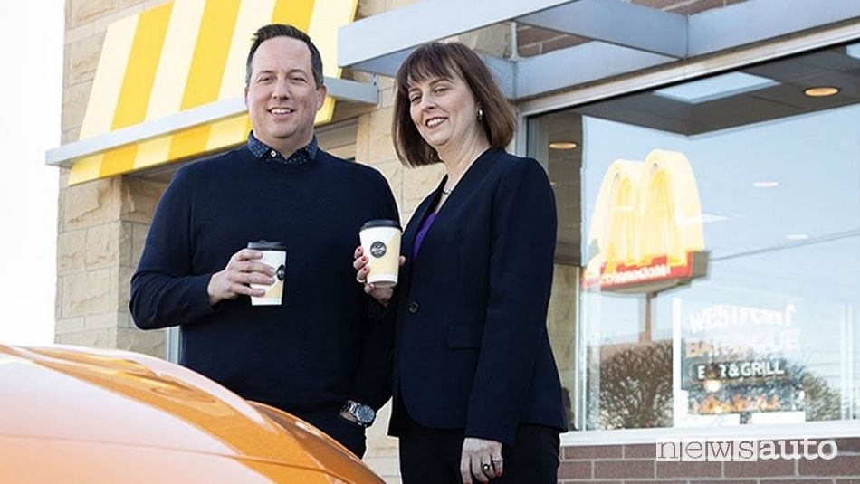 Ian Olson, Senior Director, Global Sustainability, McDonald's insieme a Debbie Mielewski