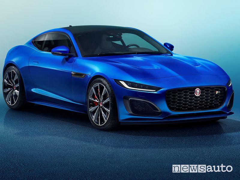 Vista di profilo Jaguar F-Type R 2020
