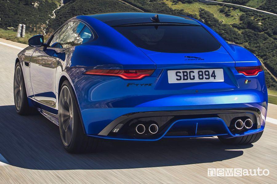 Scarico e estrattore posteriore Jaguar F-Type R 2020