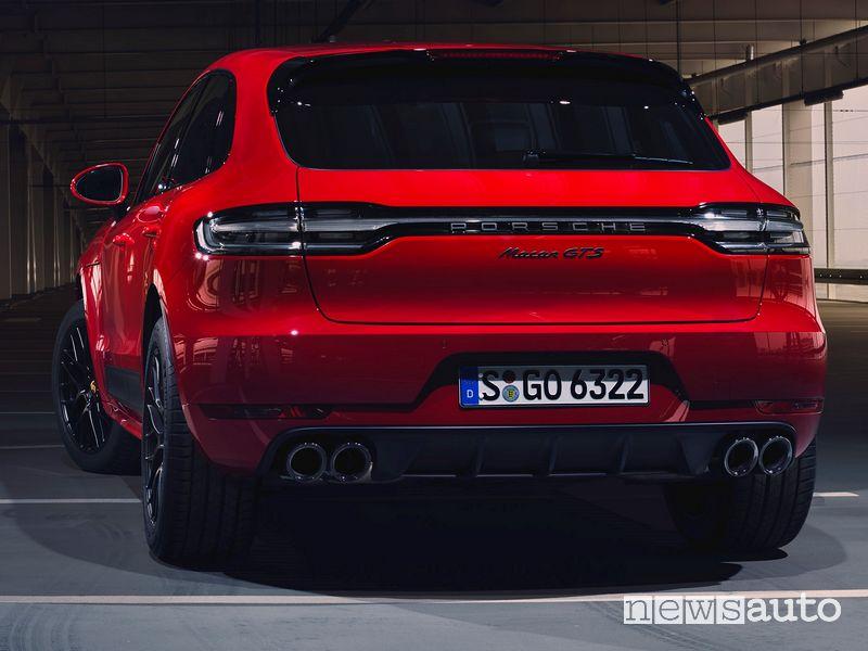 Scarico posteriore, fari a led posteriori oscurati Porsche Macan GTS