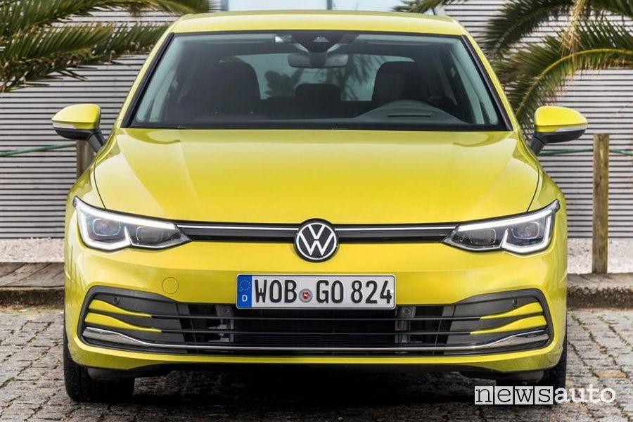 Mascherina anteriore, fari a LED anteriori Volkswagen Golf 8 gialla