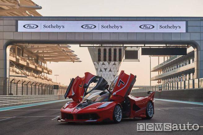 Ferrari FXXK all'asta GP abu Dhabi RM Sotheby's